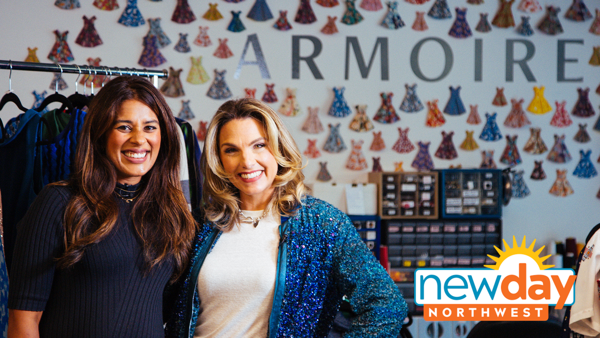 Armoire CEO Ambika Singh and KING 5 TV Host Amity Addrisi meet at Armoire headquarters to talk about back to work style.
